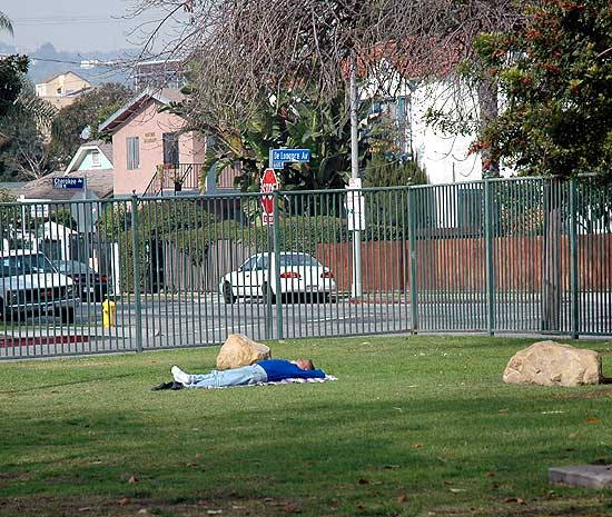 Asleep in De Longpre Park, Hollywood
