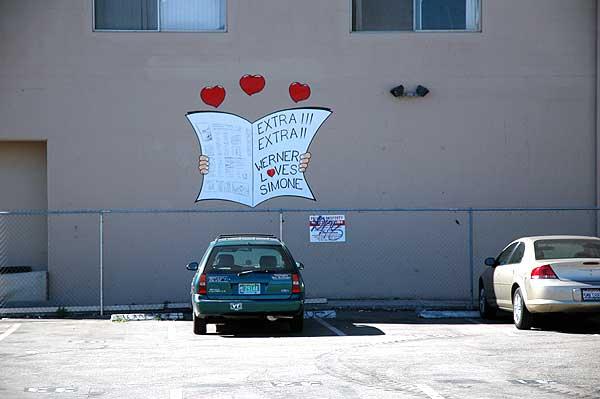 Love Wall, Venice Beach - 9 Feb 2006