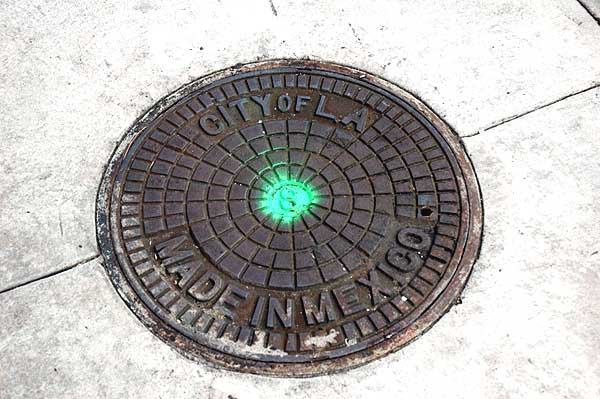 Los Angeles manhole cover, made in Mexico ...