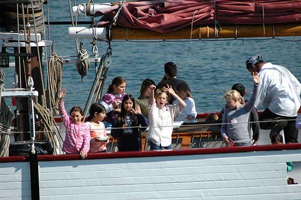 Kids on the American Pride, Long Beach Harbor