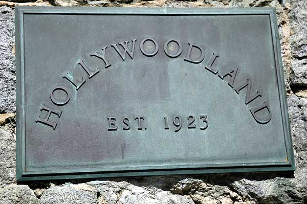 Hollywoodland plaque, Beachwood Drive