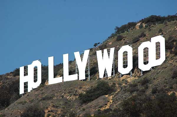 Hollywood sign up close, Beachwood Canyon