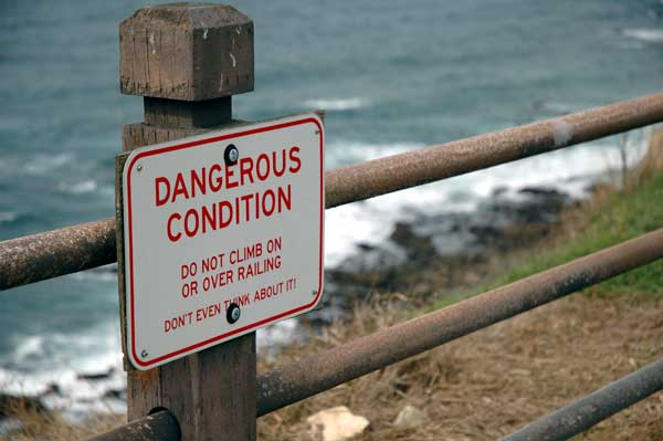 Sign at Point Vicente Lighthouse - Palos Verdes