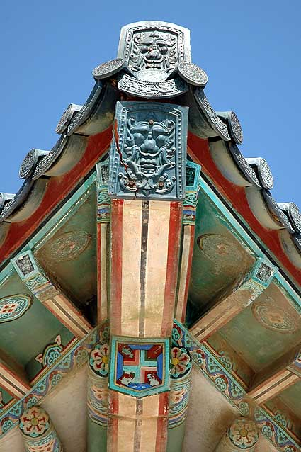 Korean Bell Pavilion at Angels Gate Park, detail