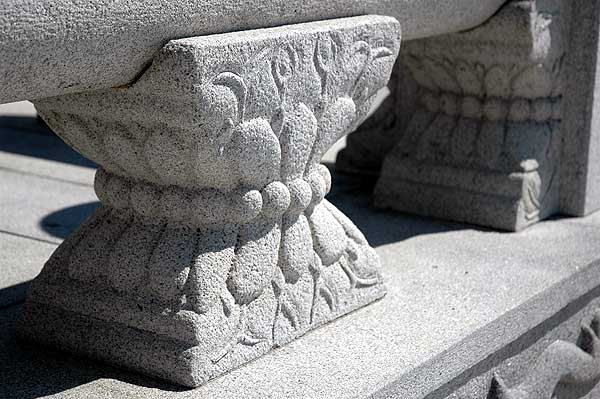 Stonework, Korean Bell Pavilion, San Pedro