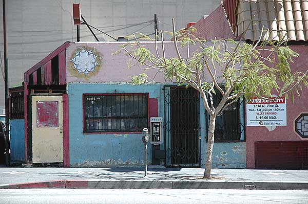 Closed burger stand on Vine in Hollywood
