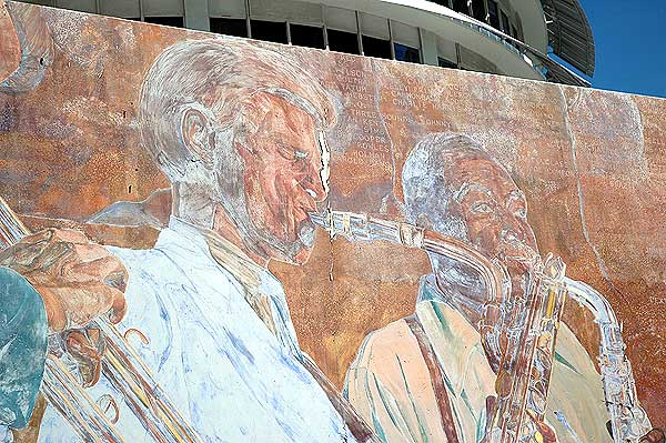 Mural, Capitol Records Building, Hollywood