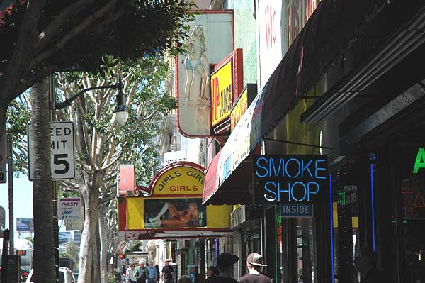 In and around Raymond Chandler Square, Hollywood