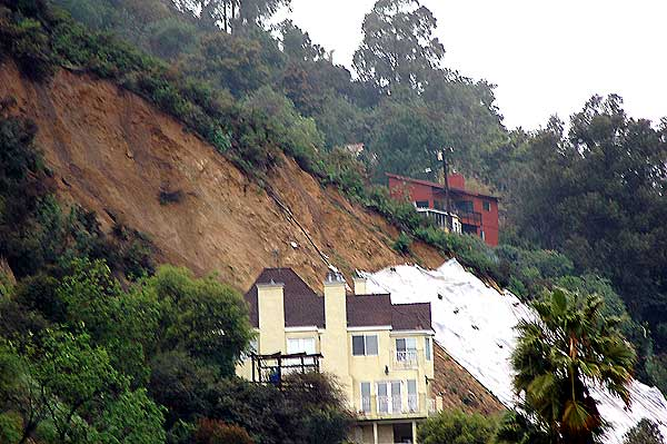 House in slide area, Laurel Canyon, Hollywood