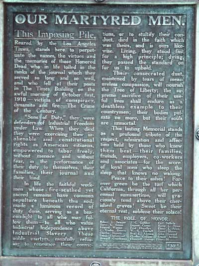 """The Crime of the Century"" commemorative tablet"