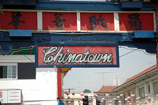 Los Angeles' Chinatown, Sign