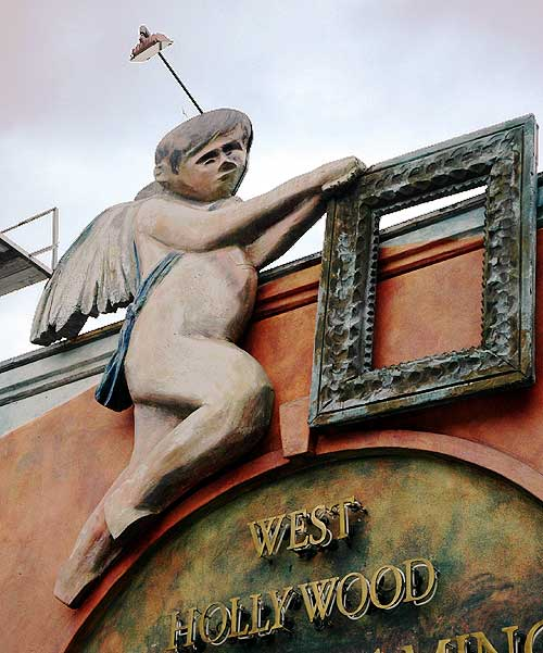 The angel on Sunset Strip, West Hollywood