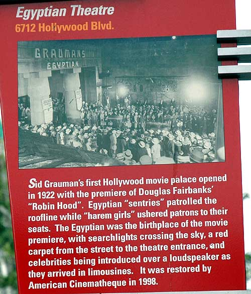 The Egyptian Theater, Hollywood