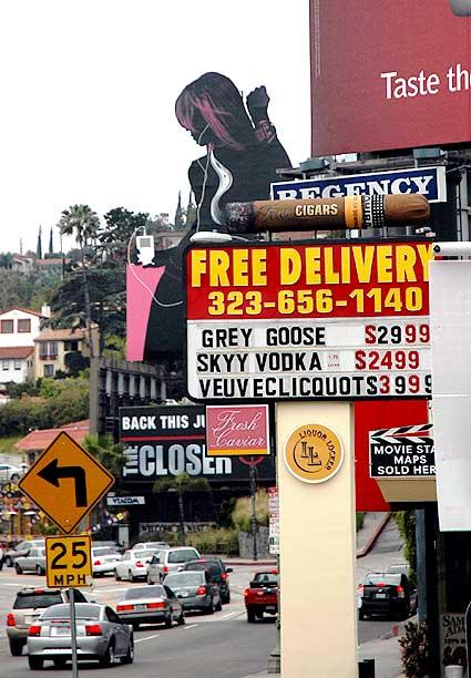 Sunset Strip at West Hollywood edge...