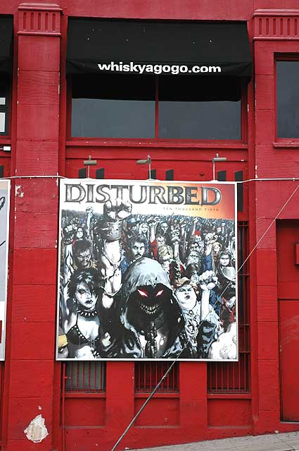 Poster on east wall of the Whiskey, Sunset Strip