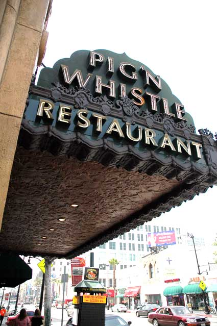 The Pig 'N Whistle on Hollywood Boulevard