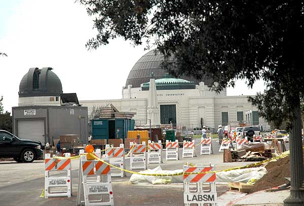 Construction at the Griffith Park Observatory