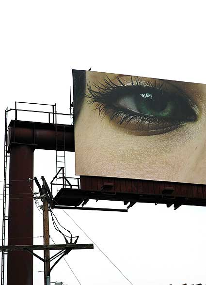 Eye billboard over the Sunset Strip