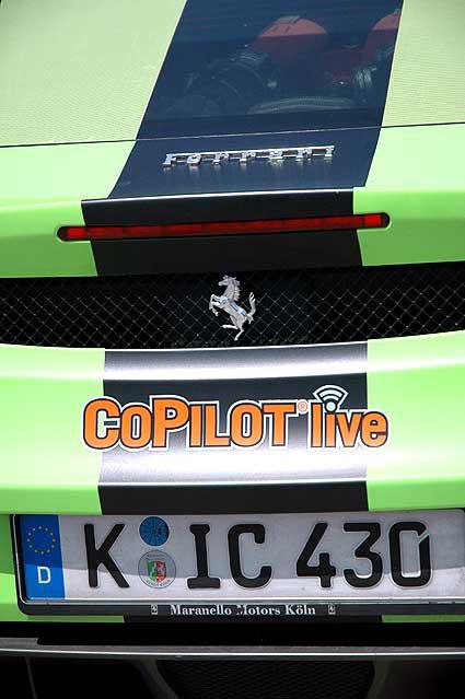 Gumball rally Ferrari F430 on Melrose -
