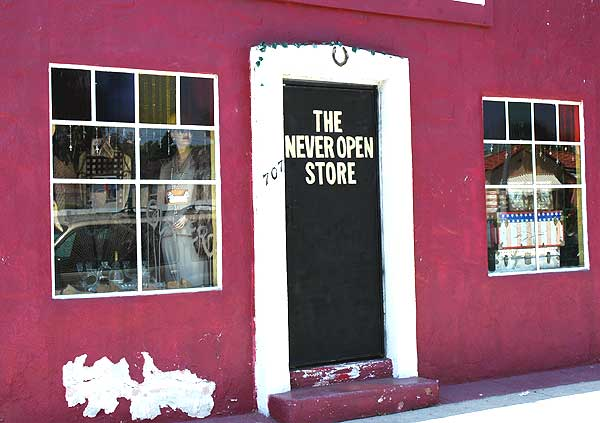 the never open store