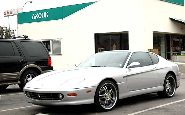Ferrari 456M parked in Malibu