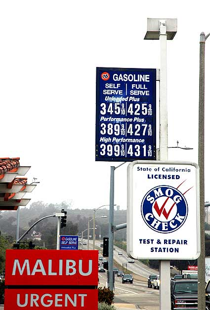 GAs prices, PCH in Mailbu, 18 May 2006