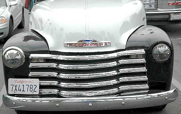Old Chevy truck, parked in Marina del Rey