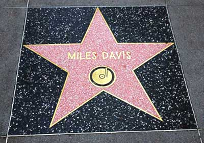 Miles Davis star, Hollywood Walk of Fame