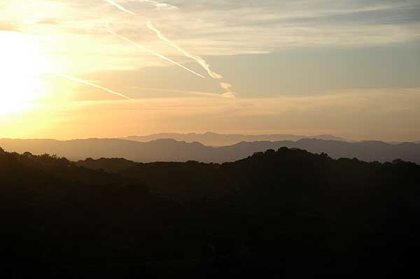 Mulholland Drive sunset...