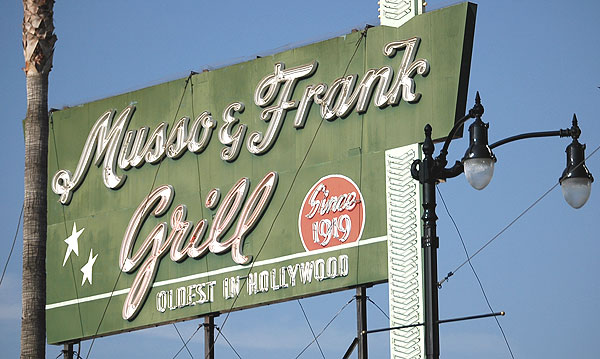 Musso and Frank, Hollywood Boulevard
