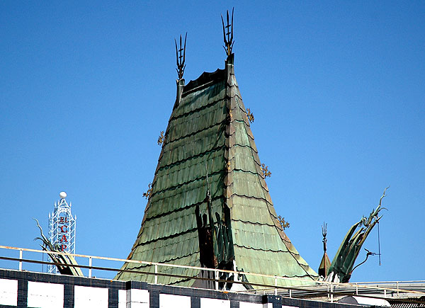 Grauman's Chinese Theater. roof detail...