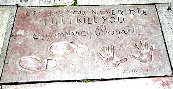 Footprints, Grauman's Chinese Theater, Bogart