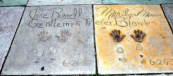 Footprints, Grauman's Chinese Theater, Monroe...
