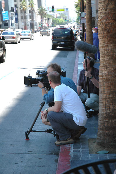 Film crew, Hollywood Boulevard