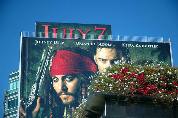 Depp billboard at Sunset Plaza