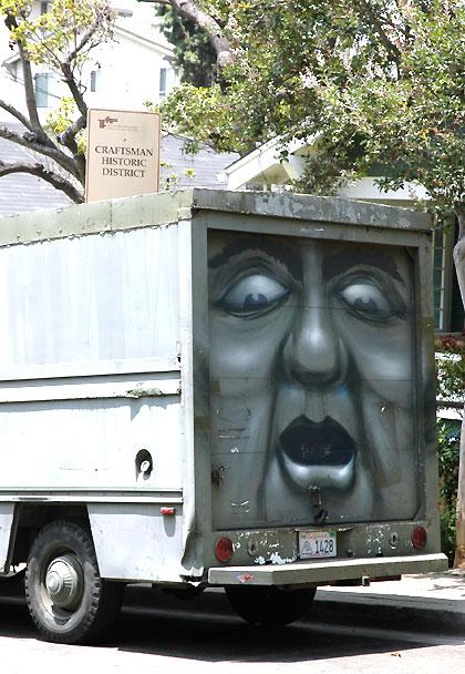 Odd repair truck in West Hollywood...