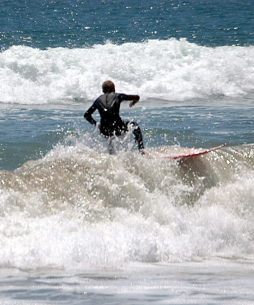 Surfing at Huntington Beach, Surf City, USA