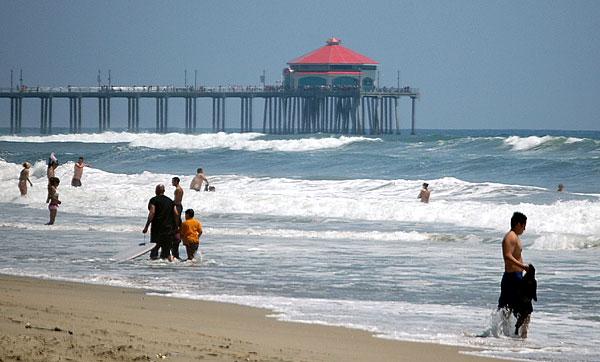 Huntington Beach pier...