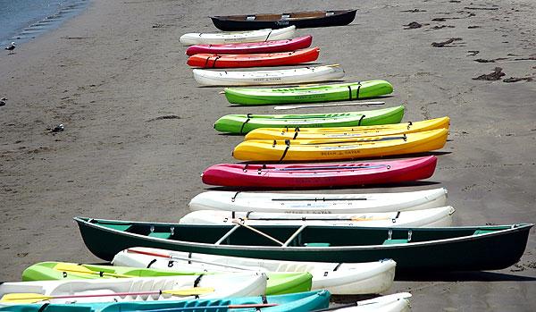 Boats, Cabrillo Beach in San Pedro, California