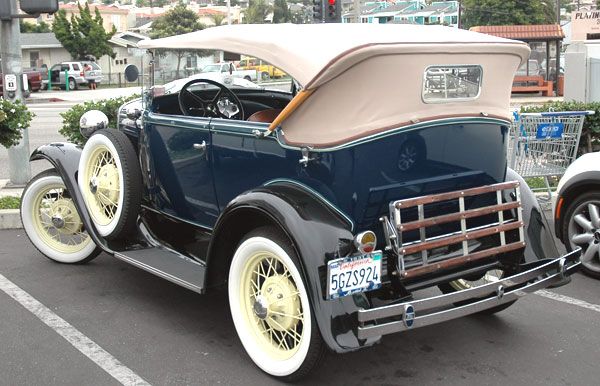 A restored 1931 Ford Model A