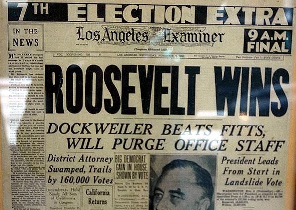 FDR wins again!  1940