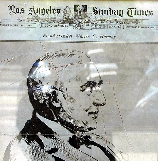 Harding elected!  LA Times...