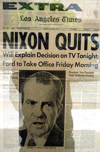 Nixon Quits - LA Times
