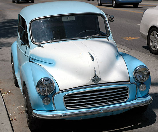 A Morris Minor 1000 parked on Fairfax Avenue -