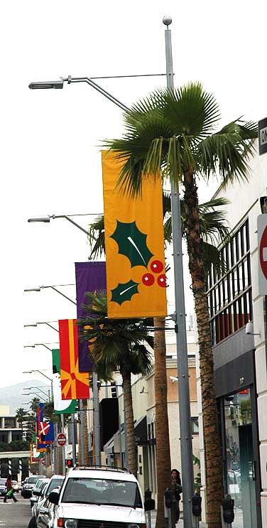 Christmas Banners, Beverly Hills, (12/08/05)
