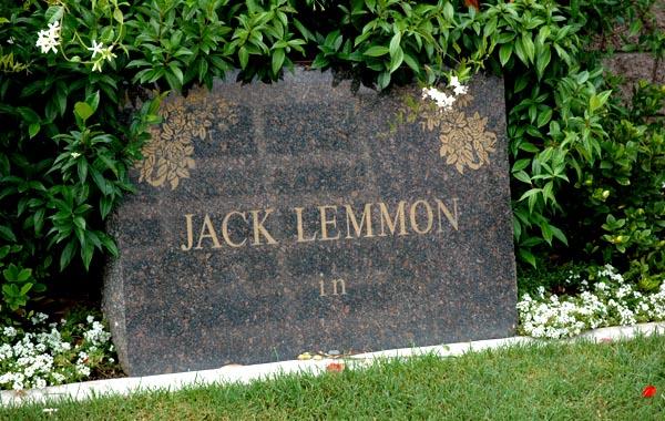 Jack Lemmon's tombstone -