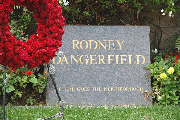 Rodney Dangerfield tombstone -