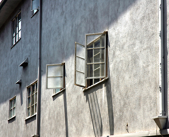 A blank wall -July afternoon, Laurel Avenue -