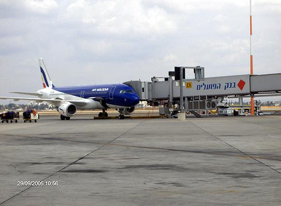 Air Moldava docked at Ben Gurion International