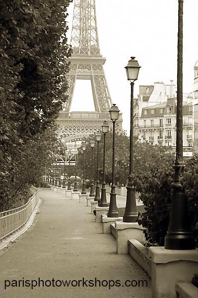 The Eiffel Tower - no tourists -